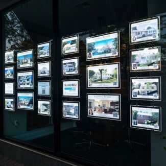 LED window display for real estate
