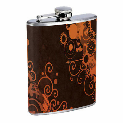 (Mechanical Design Em1 Flask 8oz Stainless Steel Hip Drinking Whiskey)