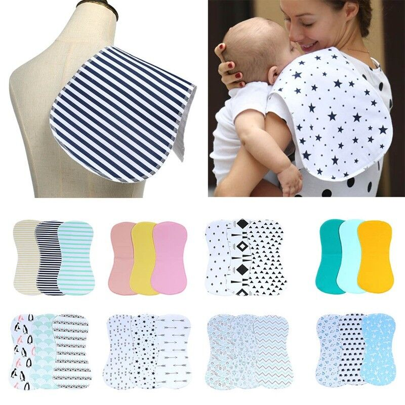 Waterproof Burp Cloths Baby Bib Set 3 Pack Cotton For Boys a