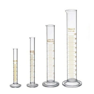 Thick Glass Graduated Measuring Cylinder Set 5ml 10ml 50ml 100ml Glass With