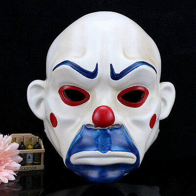 The Joker Bank Robber Mask Clown Batman Dark Knight Fancy Halloween Costume ](Bank Robber Halloween)