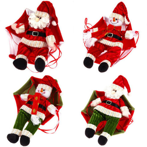 Hot Santa Claus Christmas Ceiling Decor Parachute Doll Xmas Hanging ...