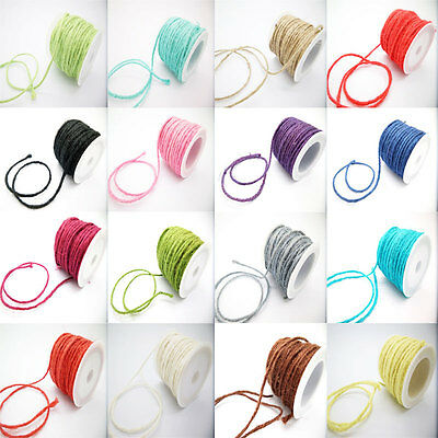 DIY 2MM Wrap Gift Link Paper Tag Jute Burlap Ribbon Twine Rope Cord String PICK