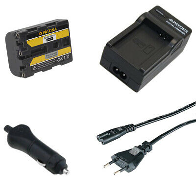 Batteria Patona + caricabatterie casa/auto per Sony HVL-ML20M,HVR-A1,HVR-A1E