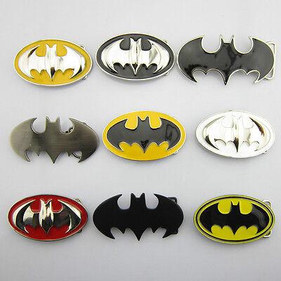 New Punk Fashion Superhero Batman Mens Metal Belt Buckle Leather Waist Belt Gift