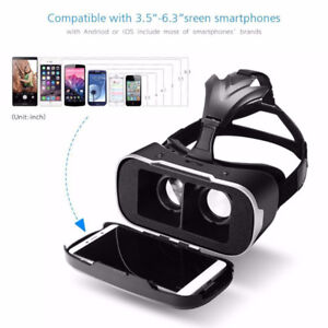 VR Headset 3D Viewer Glasses Virtual Reality Box Upgraded Versio