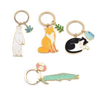Kawaii Animal Pendant Keychain Key Ring Car Key Bag Accessories Purse Bag Charm (Animal Keychains)