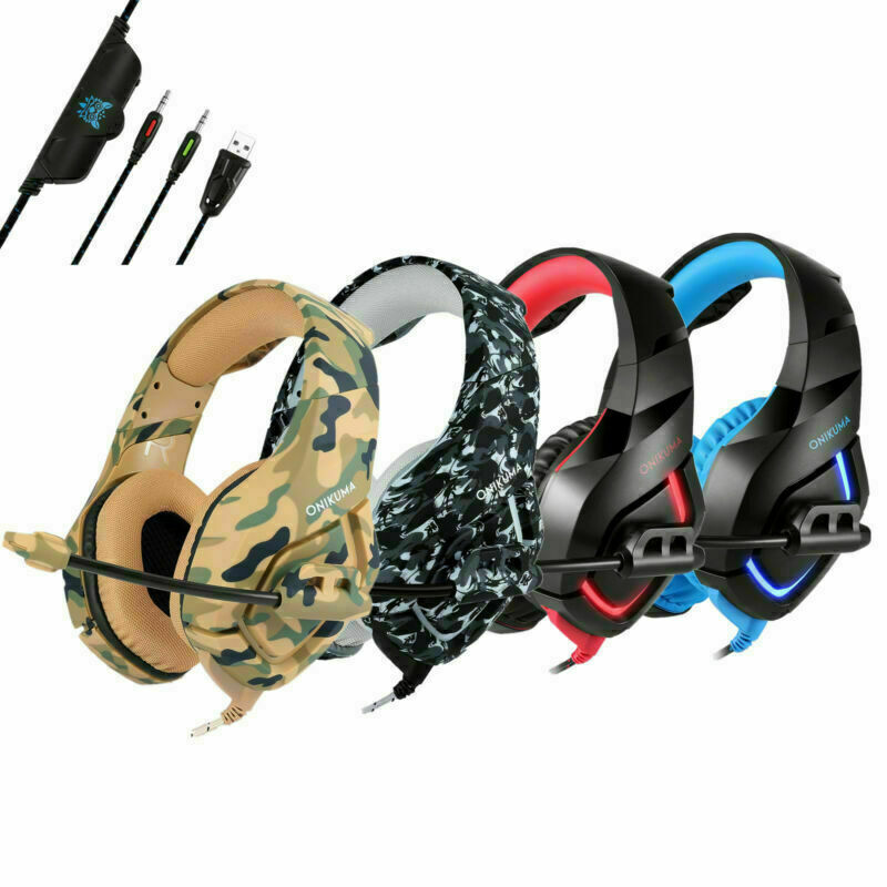 3.5mm Gaming Headsets Stereo Surrounds Headphone For PS4 Xbo