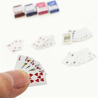 Mini Playing Cards 1:12 Dollhouse Miniature Ornament Creative Toy Poker cardsCYC
