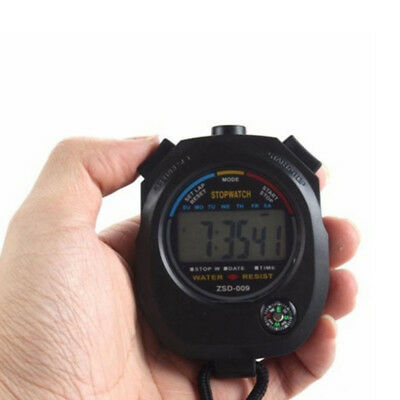 Digital LCD Waterproof Stopwatch Chronograph Timer Counter Sports Alarm Watch