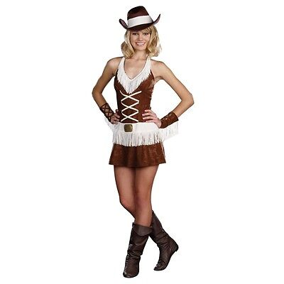 Cowgirl Costume Teen Junior * Rodeo Hat Sexy Dress Dreamgirl Cowboy S L