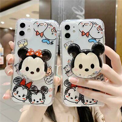 Cartoon Mickey With Stand Cover Case For iPhone 11 11 Pro Max XS Max XR XS 8 7