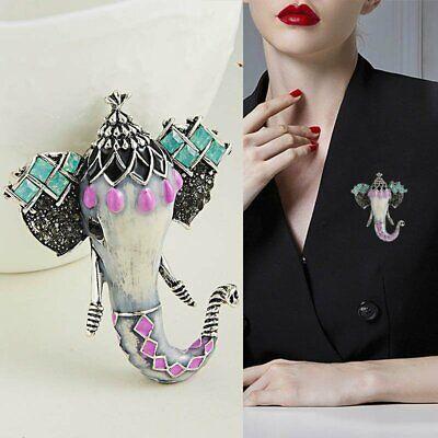 Fashion Animal Elephant Enamel Brooch Pin Wedding Costume Coat Jewelry Accessory