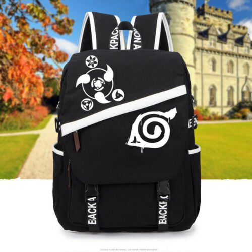 Fashion Anime Naruto Canvas Backpack Sport Outdoor School Bag Shoulder Bag Gifts
