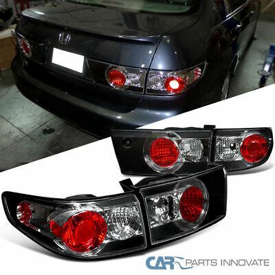 Fit Honda 03-05 Accord 4Dr Sedan Replacement Black Tail Lights Brake Park (Honda Accord Tail Lights Lamps)