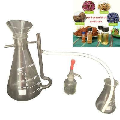 500ml Separator Essential Oil Pure Water Plant Lab Distillation Glassware Kits