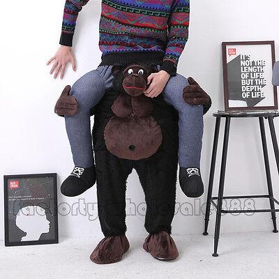 Halloween tragen Gorilla Affe Fahrt auf mich Maskottchen Kostüm Hirsch Party - Hirsch Kostüm Halloween