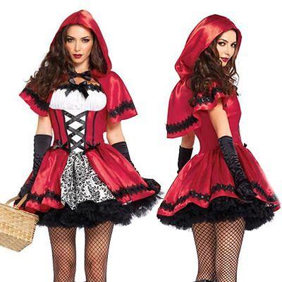 Red Hood Halloween Kostüme (Little Red Riding Hood Cape Party Fancy Dress Women Christmas Halloween Costume)