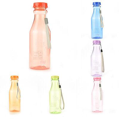 BPA libero bottiglia d'acqua plastica infrangibile bicicletta campeggio sport