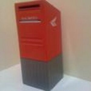 """Canada Post Piggy Bank Mailbox. Made of durable red plastic"""""""