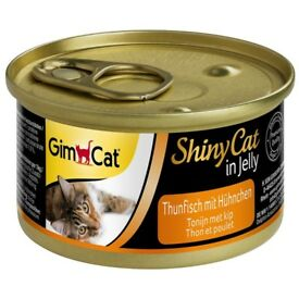GimCat ShinyCat in Jelly Tuna with Chicken 24 x Cans 70g Wet Cat Food