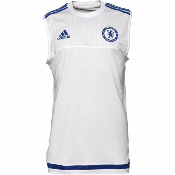 Adidas Mens Chelsea FC Sleeveless Training Top - White & Blue (Size L) (Brand New With Tags)