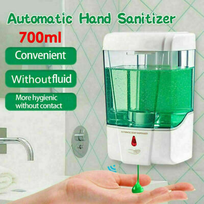 700ML Wall-Mounted Automatic IR Public Hands Sanitizer Soap Shampoo Dispenser