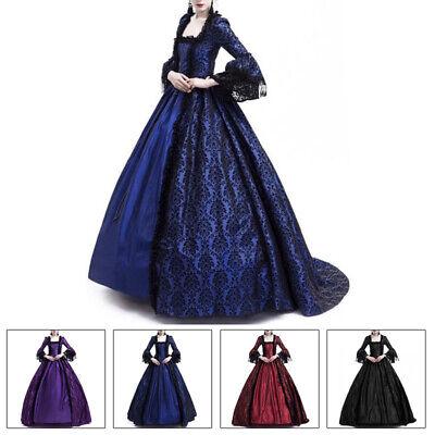 m Ballkleider Viktorianisch Halloween Gothic Retro Vintage (Viktorianischen Kleider Kostüme)