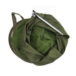 Foldable Fish Basket Drawstring Closure Minnows Lobster Foldable Keep Net | eBay