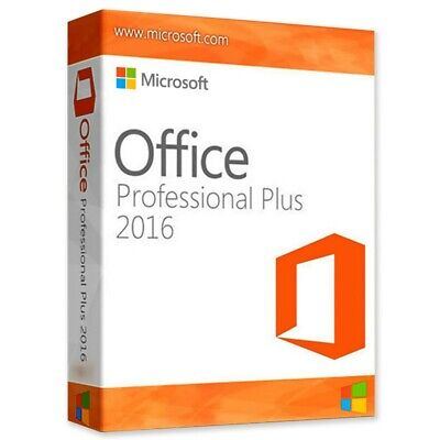 Microsoft Office 2016 Professional Plus Software für 1 PC