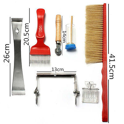 7pcs Pack Bee Brush Uncapping Fork Queen Catcher Hive Tool Beekeeping Equipment