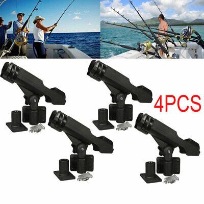 For Kayak Boat Fishing Pole Rod Holder Tackle Kit 4PC Adjustable Side Rail Mount ()