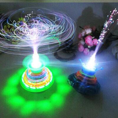 Spinning Led Toy (Fun Spinning Top Gyro Spinner LED Music Light Xmas- Kids Children)
