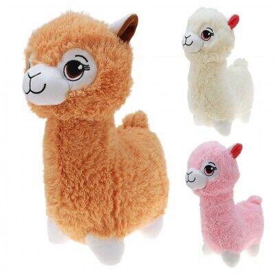 cm braun rosa weiß Stofftier Alpaka Spielzeug  Kinder Tier (Plüsch-lama)