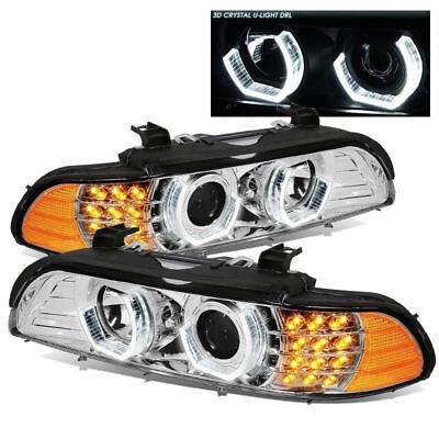 ALPINE COACH 2006 2007 2008 CHROME PROJECTOR LIGHT HEADLIGHTS HEAD LAMPS RV PAIR