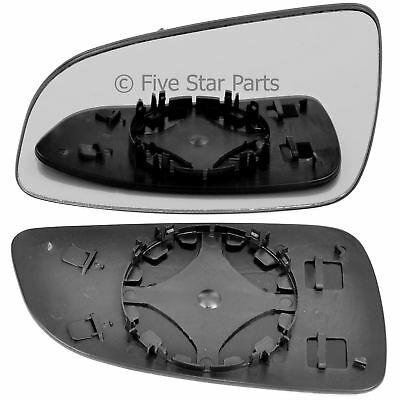 Left Passenger side Wing mirror glass for Vauxhall Astra H 2004 2008