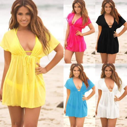 Ladies Beach dress Cover up Kaftan Sarong Summerwear Swimwea