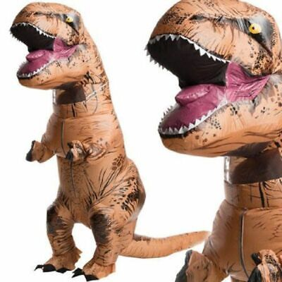 T-REX Dinosaur Inflatable Dino Costume Jurassic Outfits Suit For Adult Cosplay