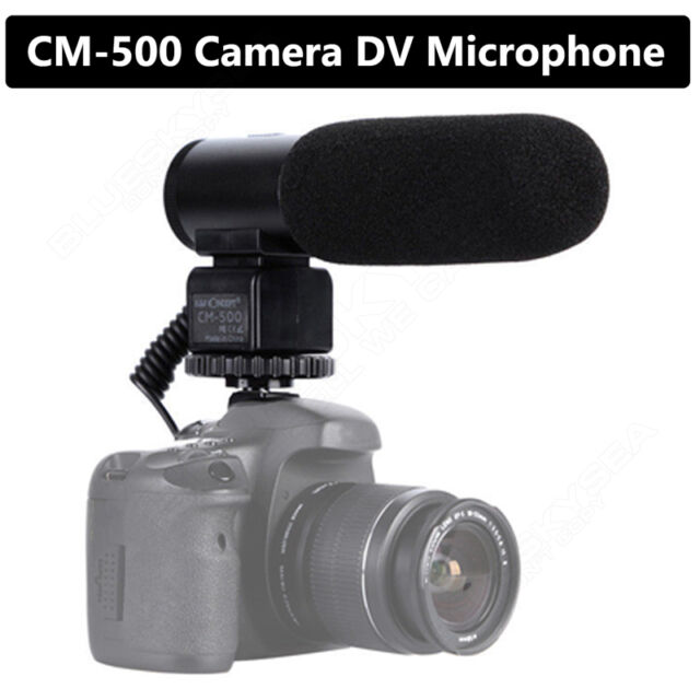 Camera Camcorder 3.5mm Mic Direction External Microphone for DSLR Canon Nikon DV