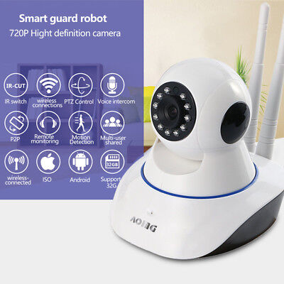 Wireless 720p Pan Tilt Network Home CCTV IP Camera IR Night Vision WiFi Webcam comprar usado  Enviando para Brazil