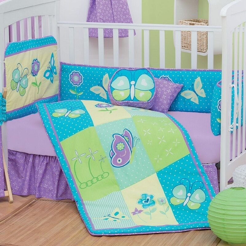 New Baby Girl Fantasy Butterfly Purple Embroidered Nursery C