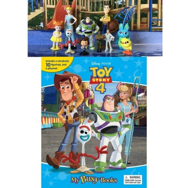BN: Disney Pixar Toy Story 4 My Busy Books incl 10 Figurines and a Playmat