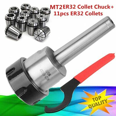 11pcs Precision Er32 Collet Set Mt2 Shank Chuck Spanner For Milling Machine Bt