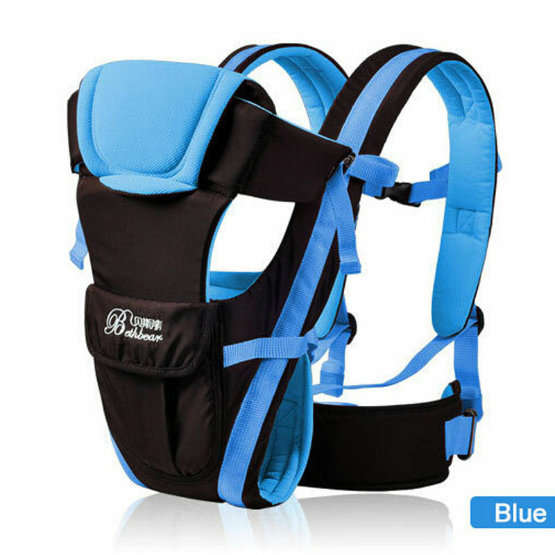 Baby Backpack Front Carrier Infant 4 in 1 Sling Pouch Wrap Kangaroo Mom Mama Mum