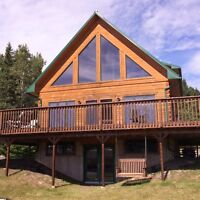 Beautiful 4 bedroom waterfront log home