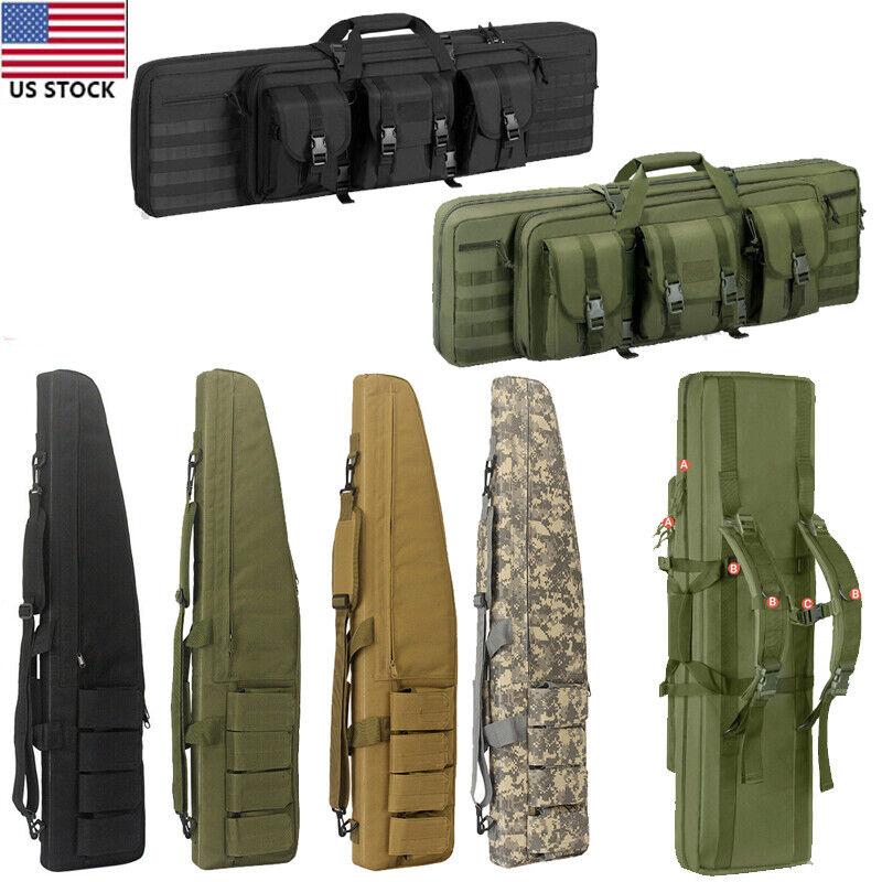 "Tactical Rifle Bag Gun Padded Soft Case Hunting Storage Backpack 36"" 39"" 46"" 47"