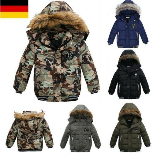 Kinder Jungen Winter Warm Dicker Mantel Dicker jacke Outwear Kapuze Parka Jacken