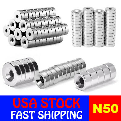 N50 Countersunk Ring Round Disc Strong Magnets Rare Earth Neodymium Hole