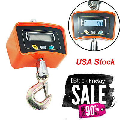 Portable 500 KG /1100 LBS Digital Crane Scale Heavy Duty Industrial Hang Weight