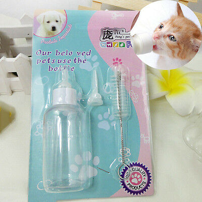 Pet Nursing Feeding Pump Bottle Kitten Milk 60ml Set For Sma